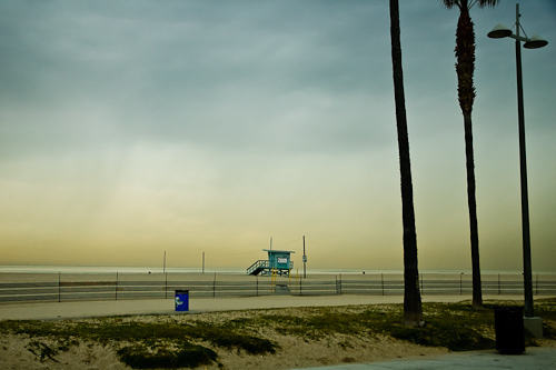 The pacific light, Venice beach, USA.