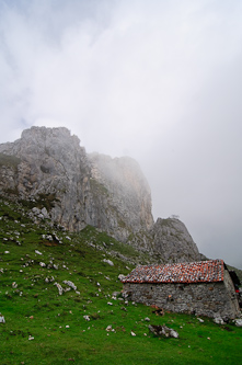 A house on the hill, Picos de Europa, Spain.